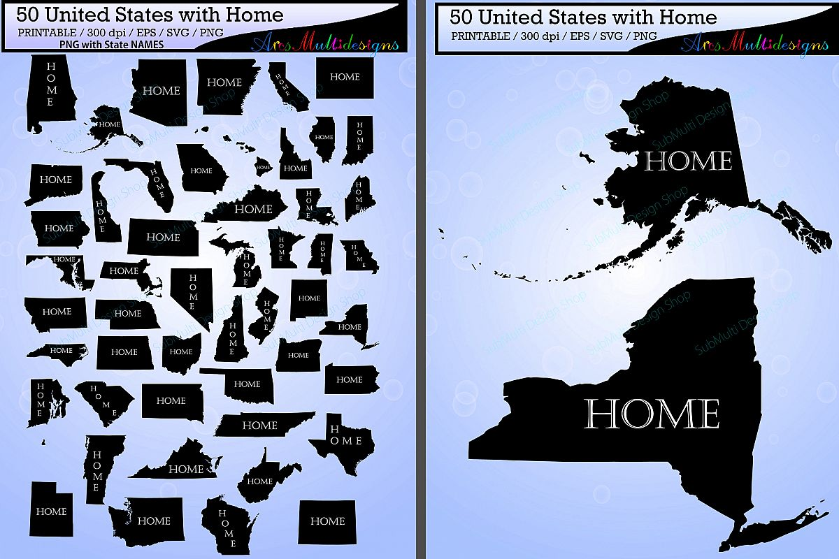 Svg Us Map.United States Map With Home Vector 50 States With Capital Map Us
