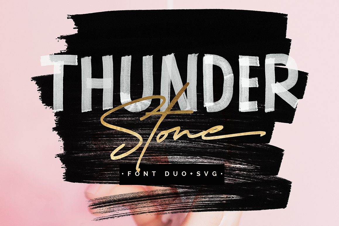 Thunder Stone Font Duo OpenSVG example image 1