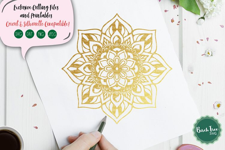 Mandala SVG Cut File, Boho SVG, Floral Svg, Mandala Design example image 1