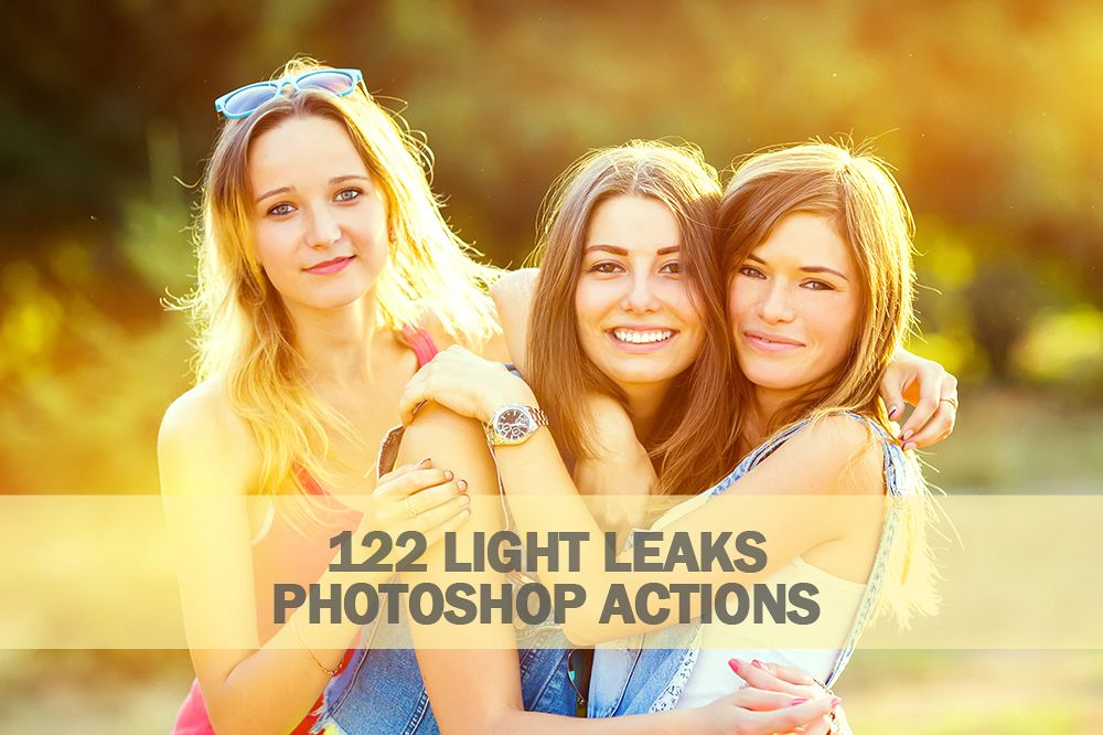 122 Light Leaks Photoshop Actions Collection (Action for photoshop CS5,CS6,CC) example image 1