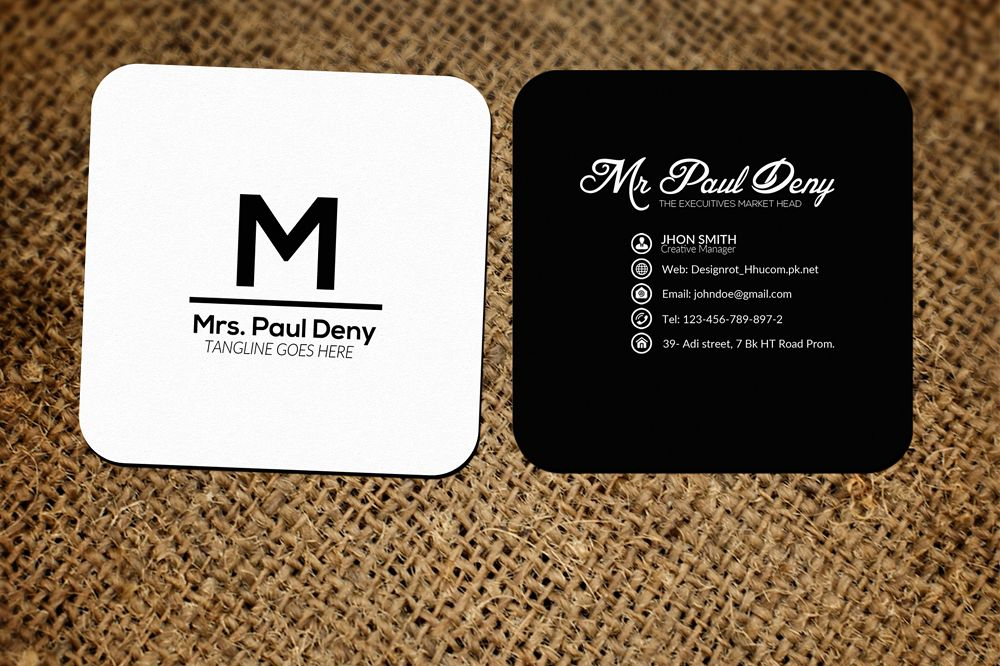 Small Social Media Business Card