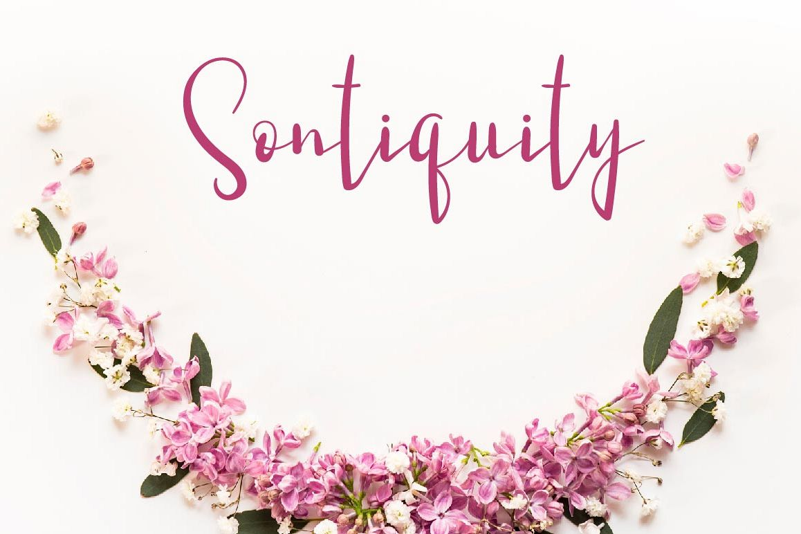 Sontiquity Script Font example image 1