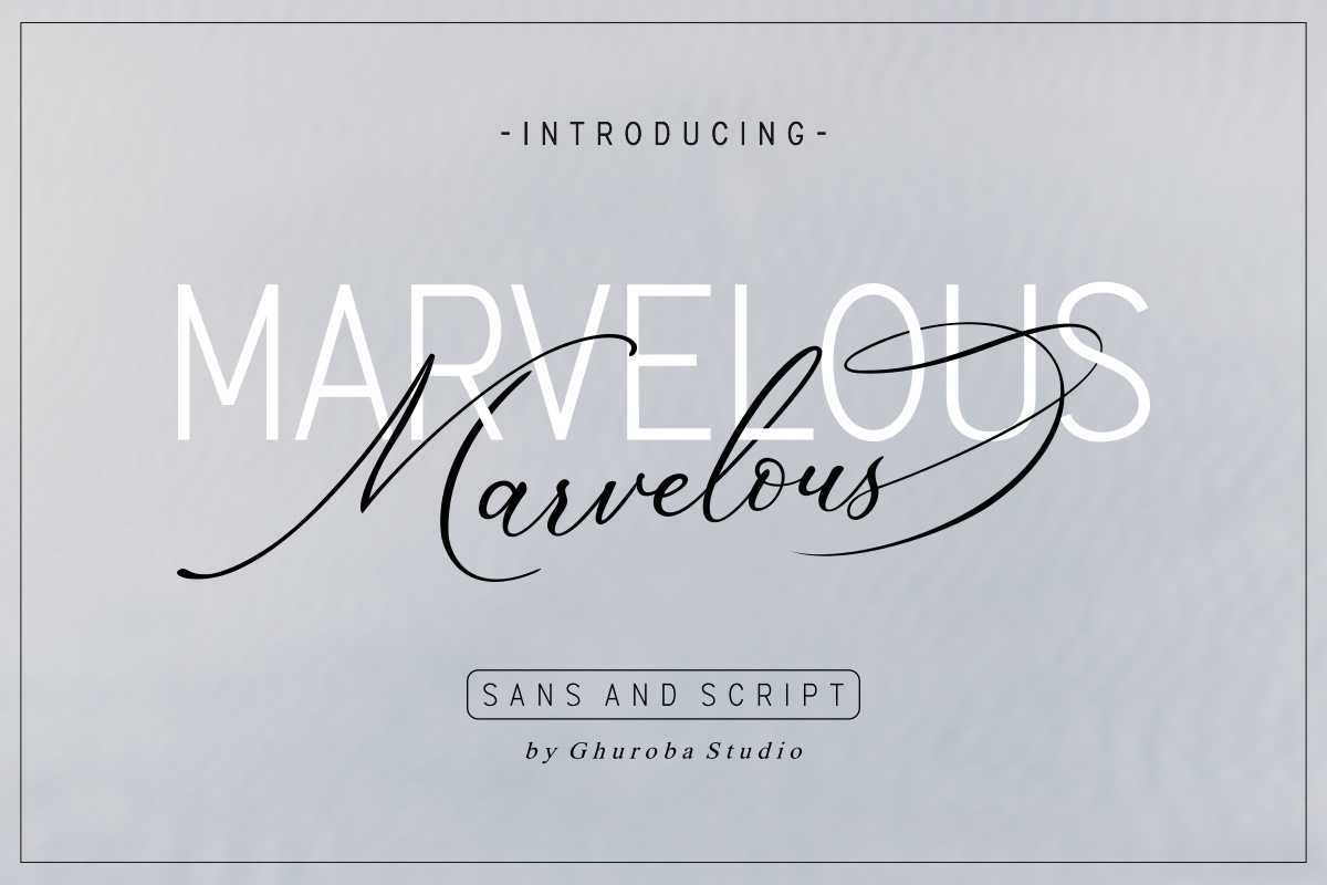 The Marvelous Font Duo example image 1