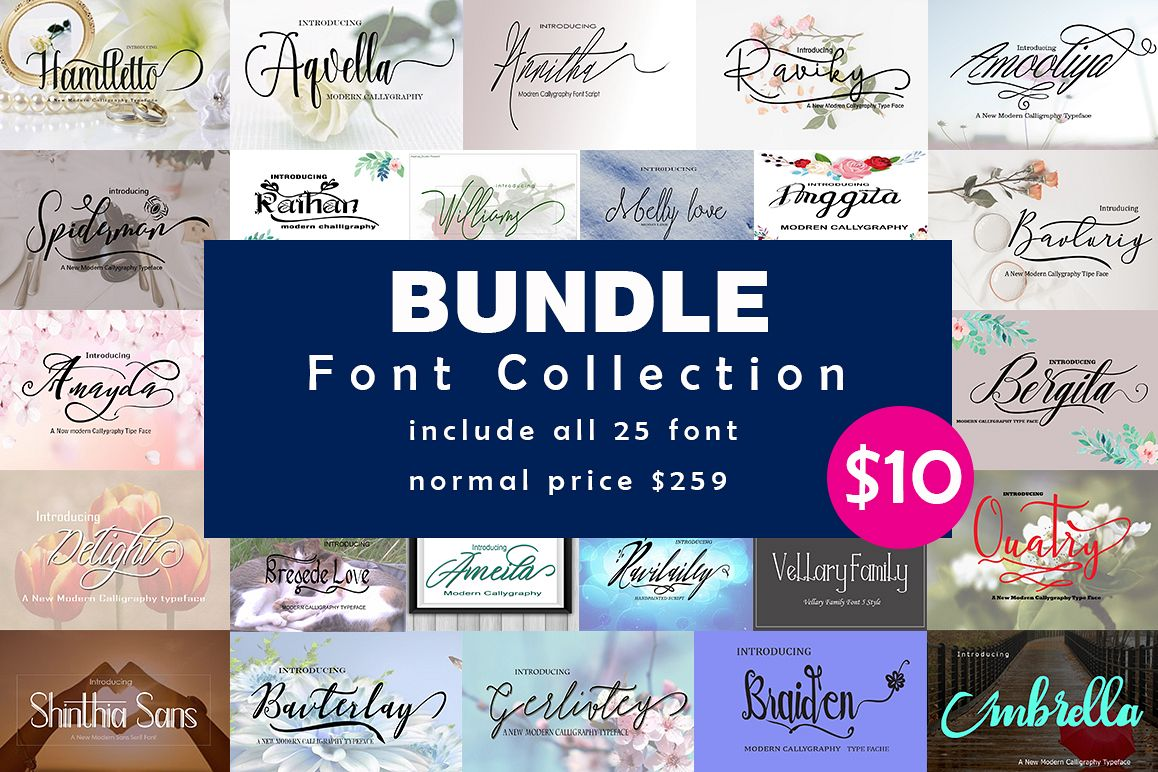 BUNDLE FONT COLLECTION example image 1