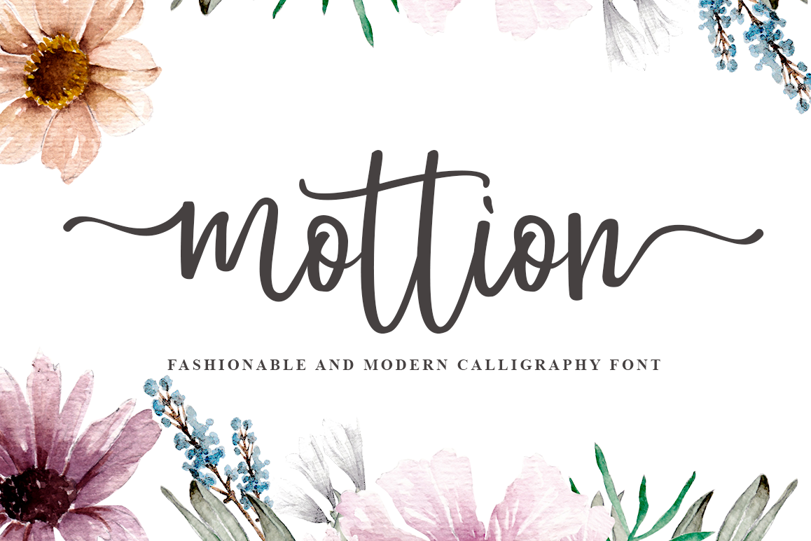 Mottion // Fashionable and Modern Calligraphy example image 1