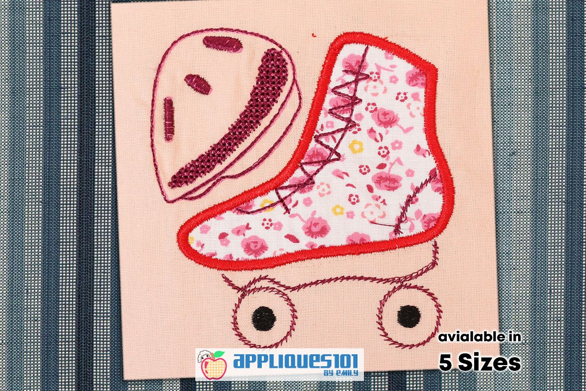 Skating Shoes Embroidery Applique Design - Shoes example image 1