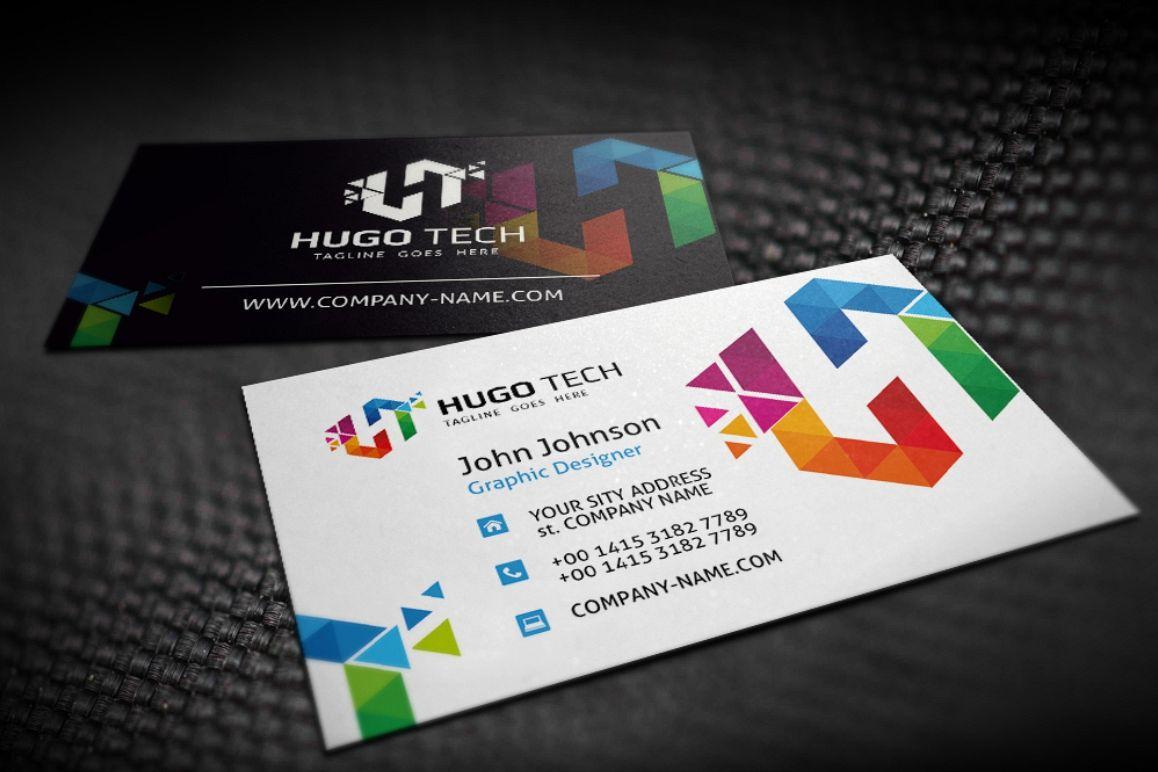 Hugo Tech Poligon Business Card example image 1