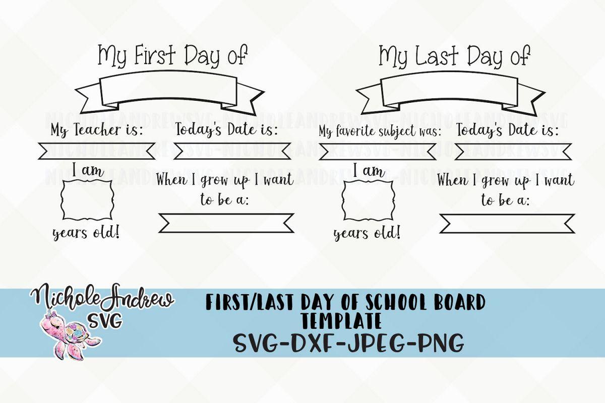 First Day Of School Chalkboard Svg Back To School Svg