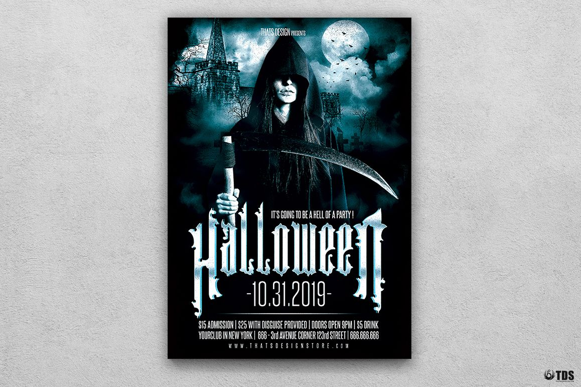 Halloween Flyer Template V8 example image 1