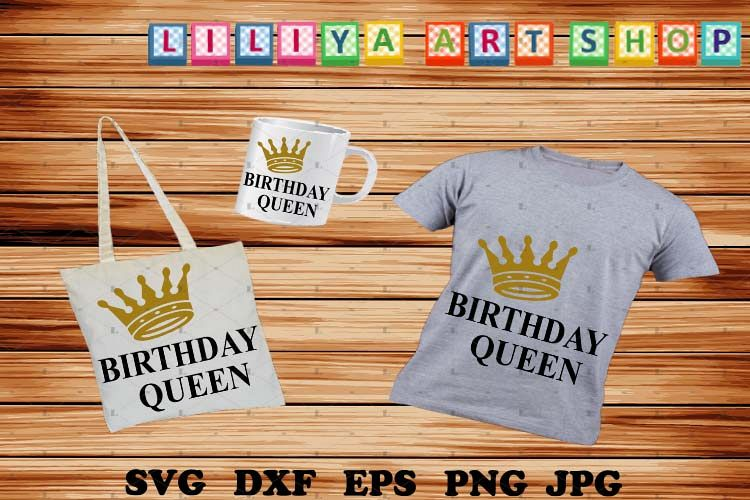 Birthday Queen svg,Birthday svg,Birthday Girl Shirt svg example image 1