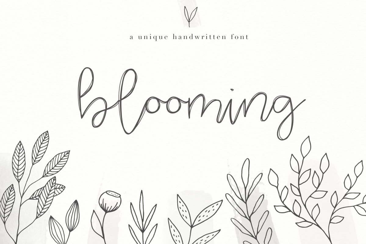 Blooming - Handwritten Font example image 1