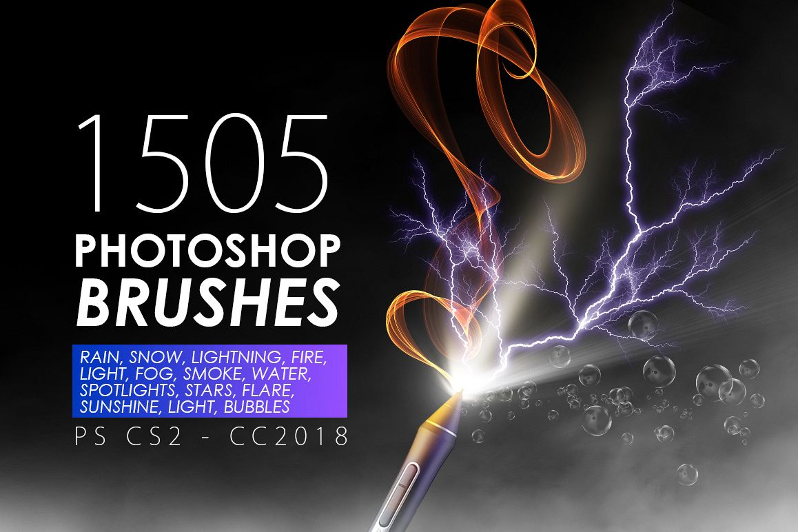 1505 Visual Effect Photoshop Brushes example image 1