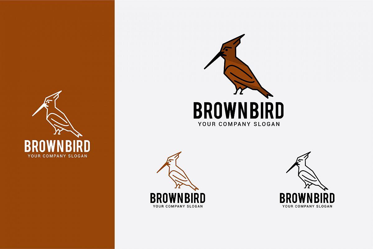 brown bird logo example image 1