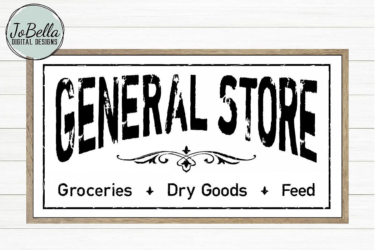 Distressed General Store SVG and Printable Farmhouse Design example image 1