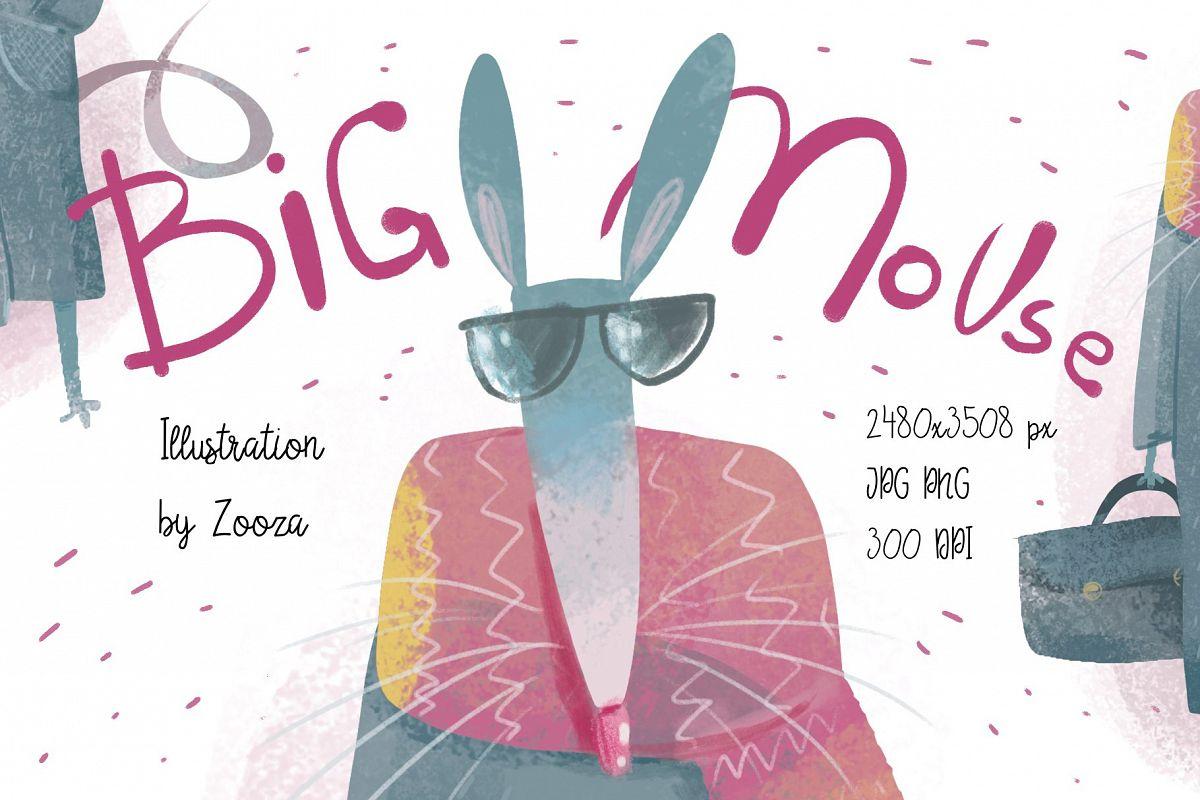 Big Mouse craft illustration example image 1