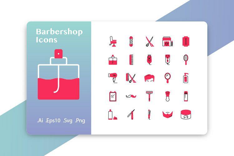 25 Barbershop Icons example image 1