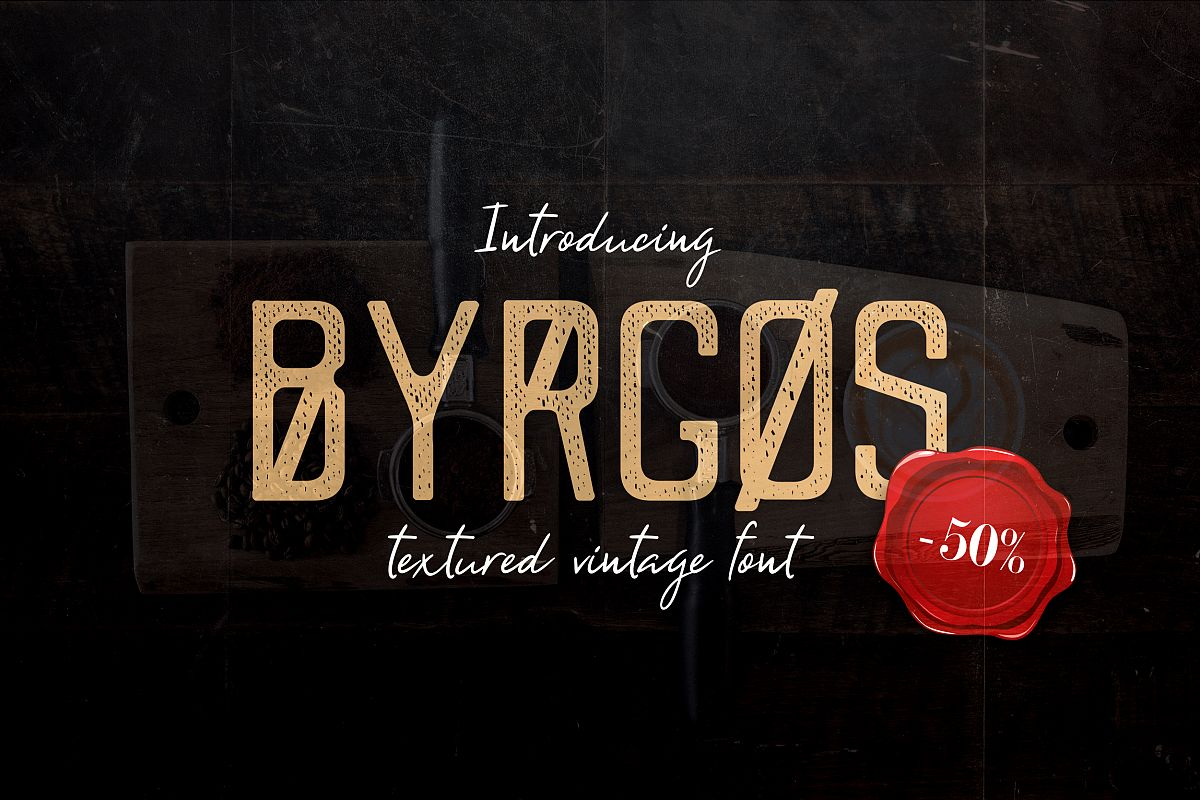 Byrgos Font example image 1
