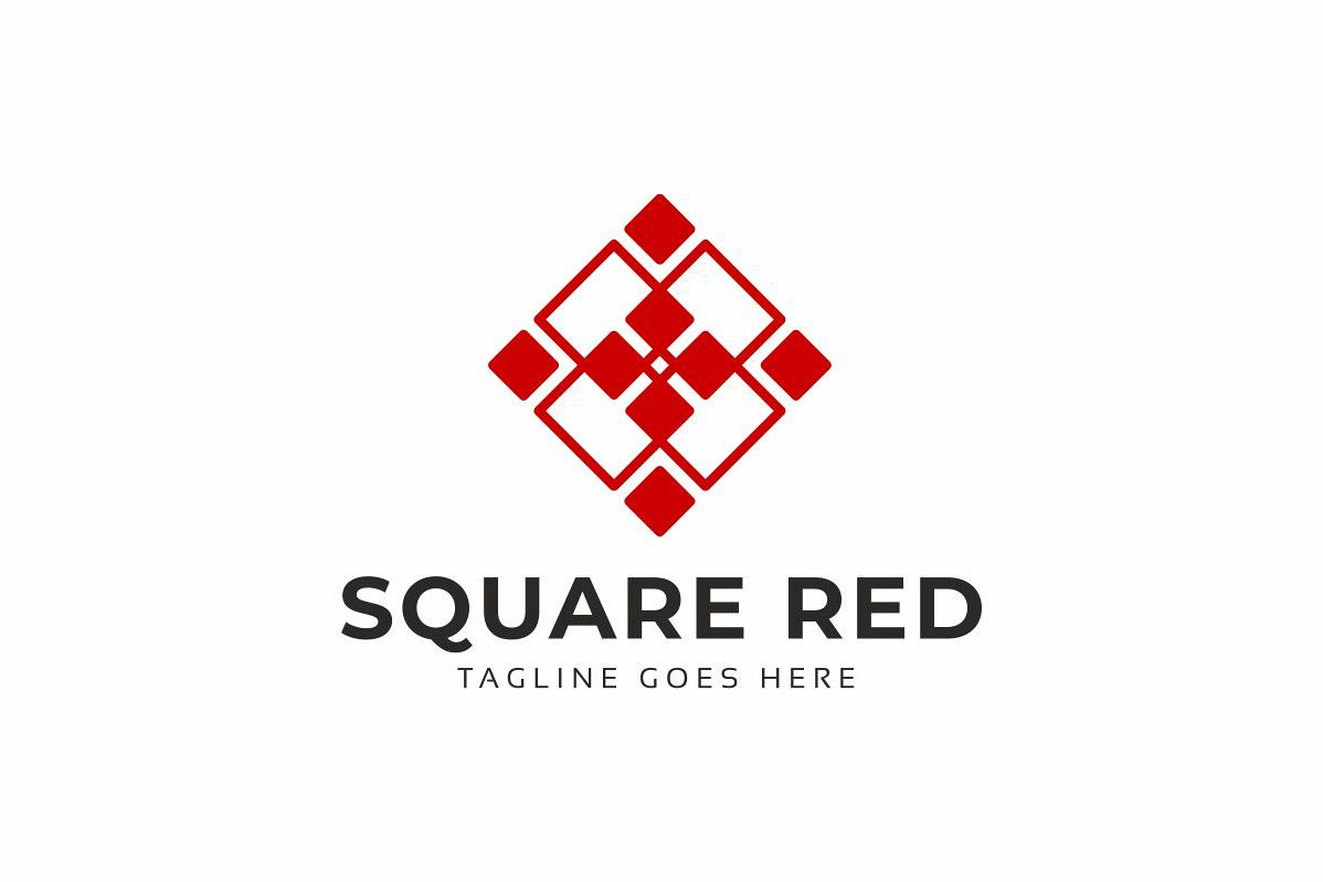 Square Red Logo example image 1