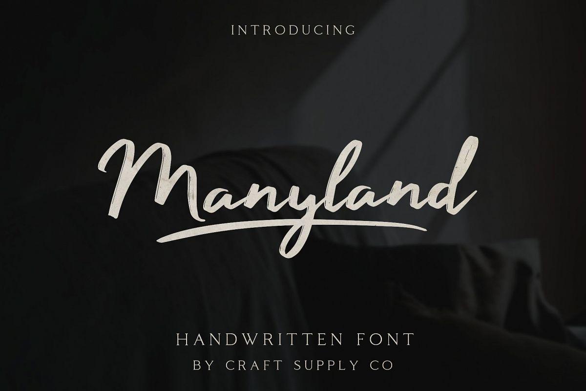 Manyland - Handwritten Font example image 1