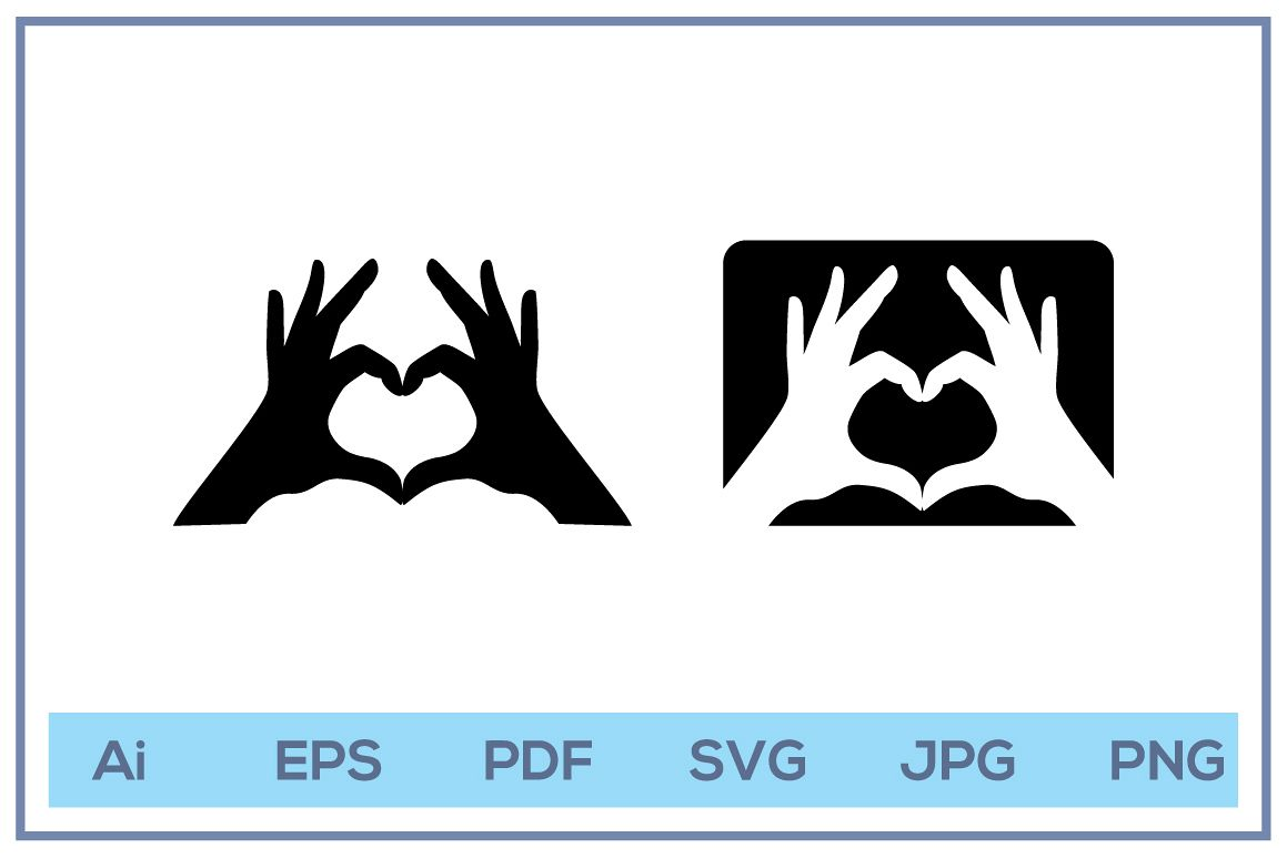 Vector of fingers love logo design example image 1