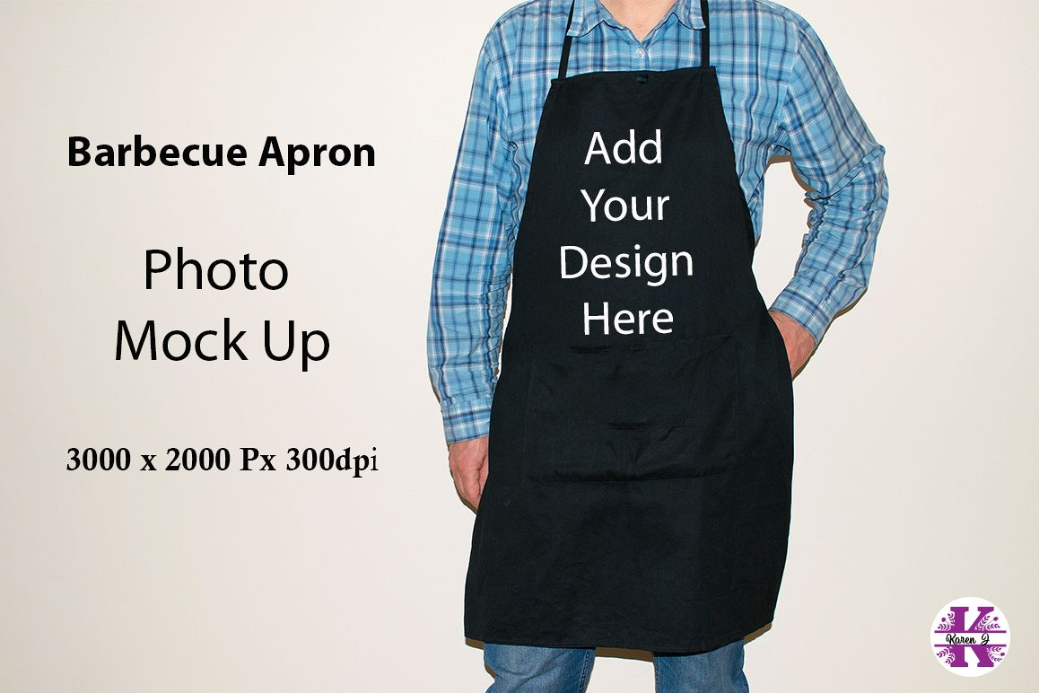 Barbecue Apron Photo Mock UP example image 1