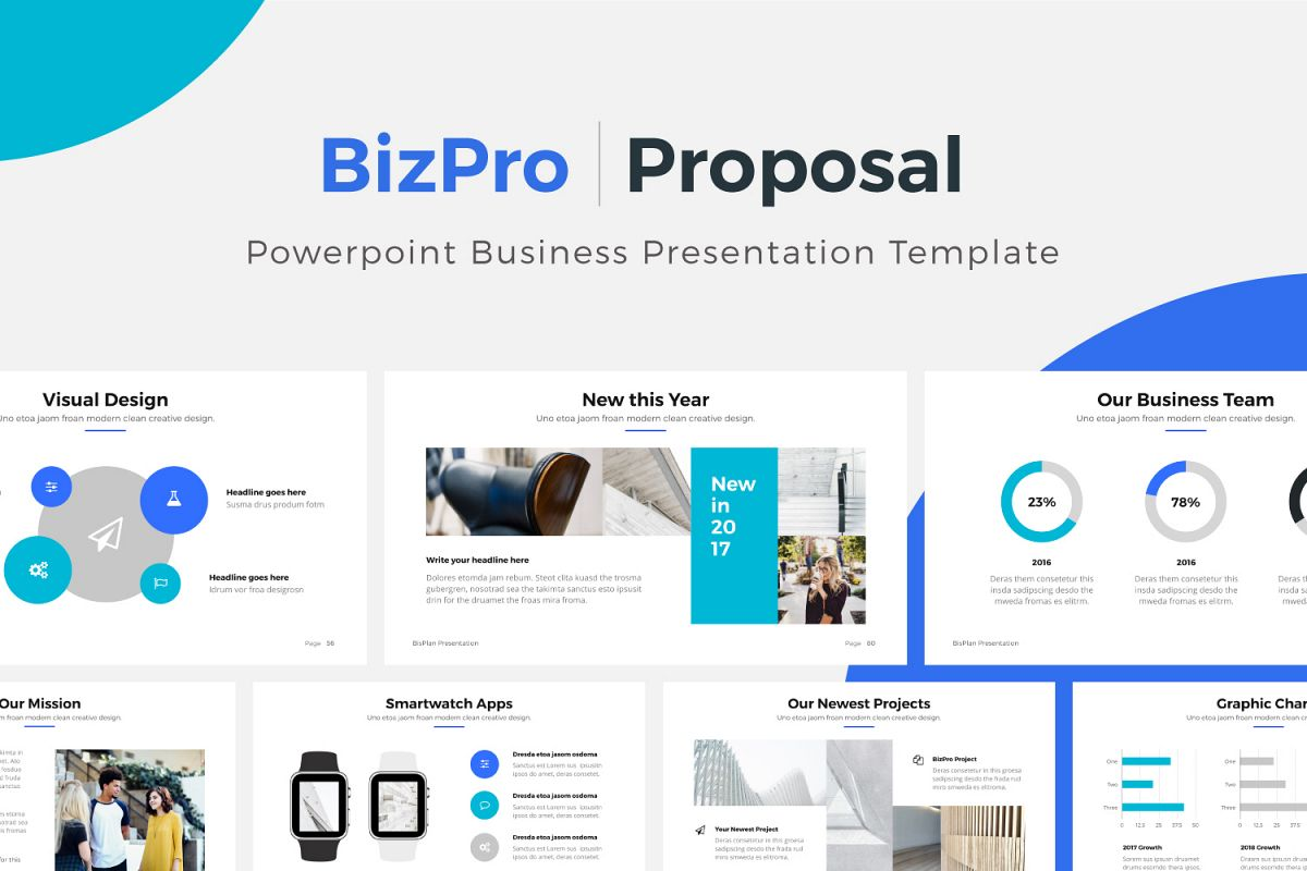 BizPro | Proposal Powerpoint Template example image 1