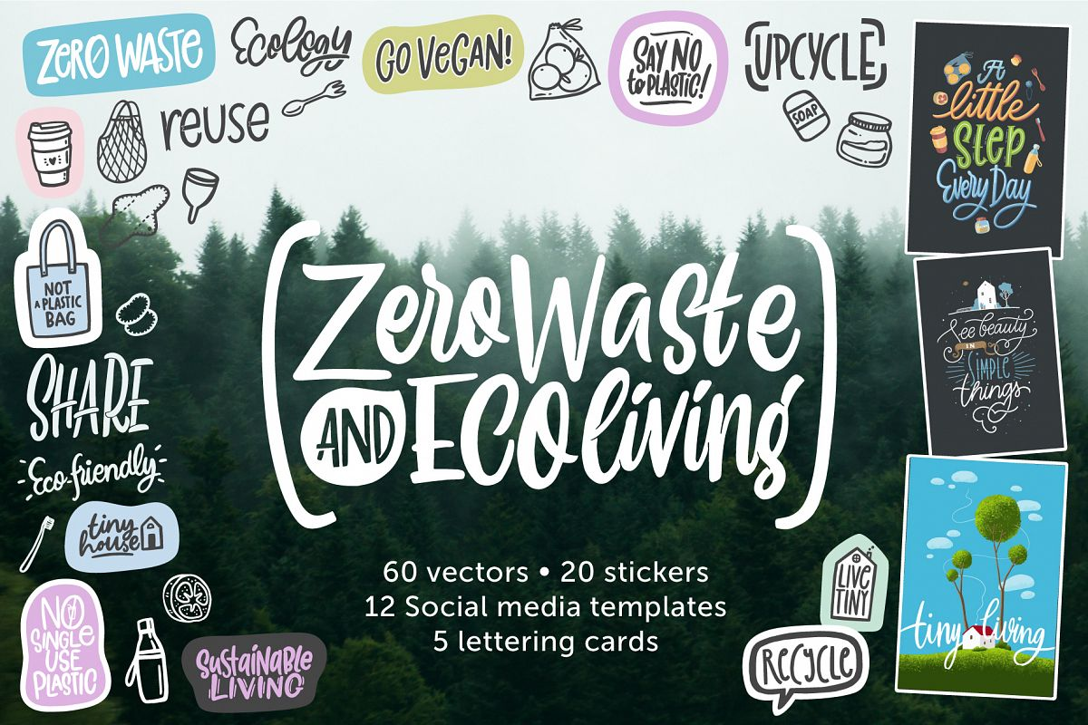 Zero waste & Eco living Pack example image 1