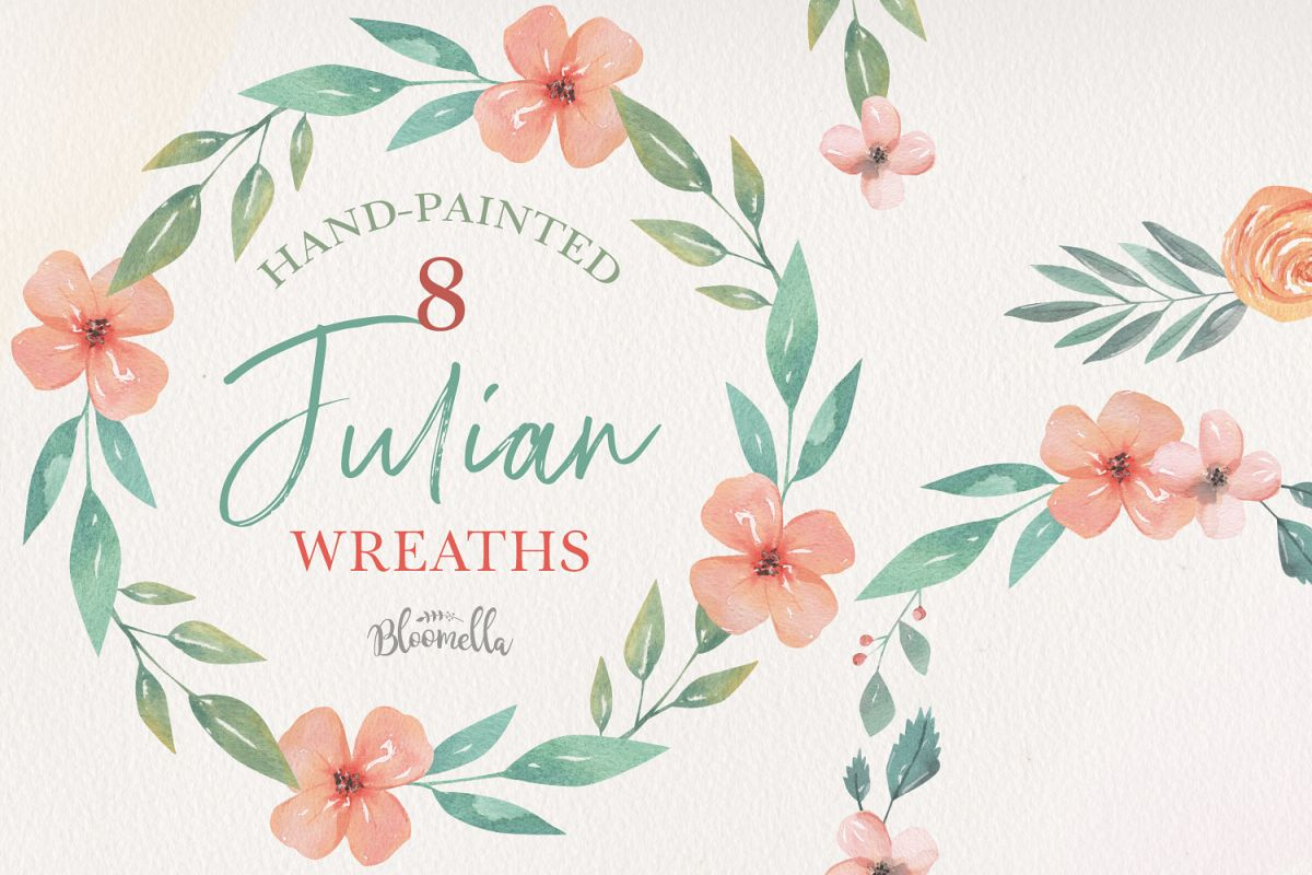 Julian Wreaths Hand-Painted example image 1