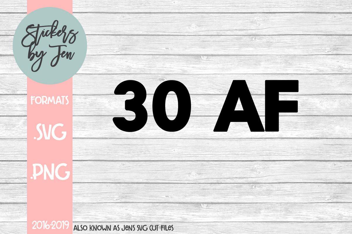 30 AF SVG Cut File example image 1