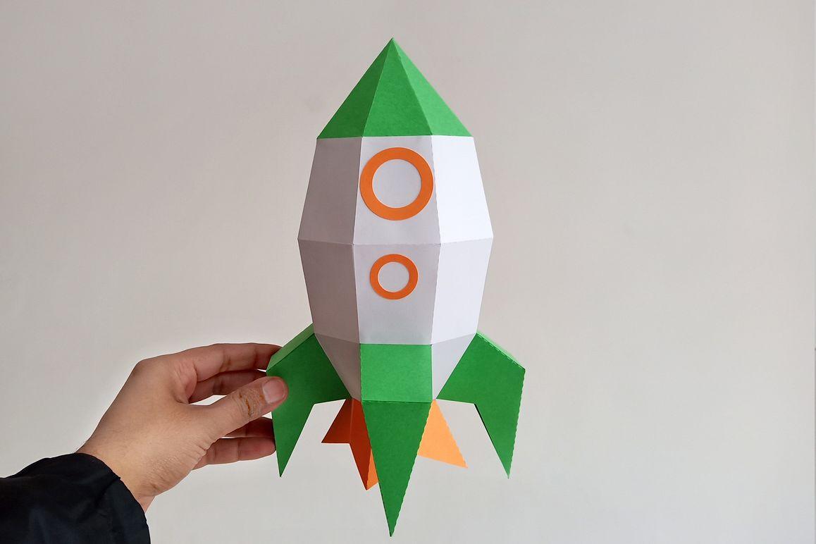 Diy Rocket 3d Papercraft