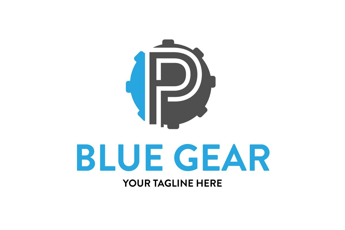 P letter Gear logo example image 1