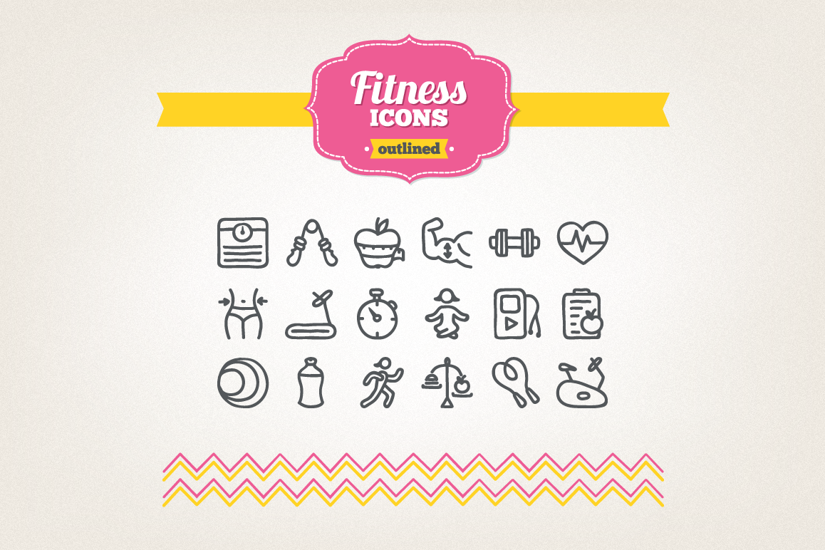 Hand Drawn Fitness Icons example image 1
