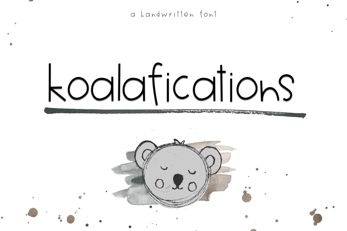 Koalifications - A Cute Handwritten Font example image 1