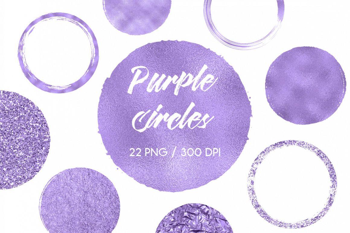 Purple Circles Clip Art example image 1
