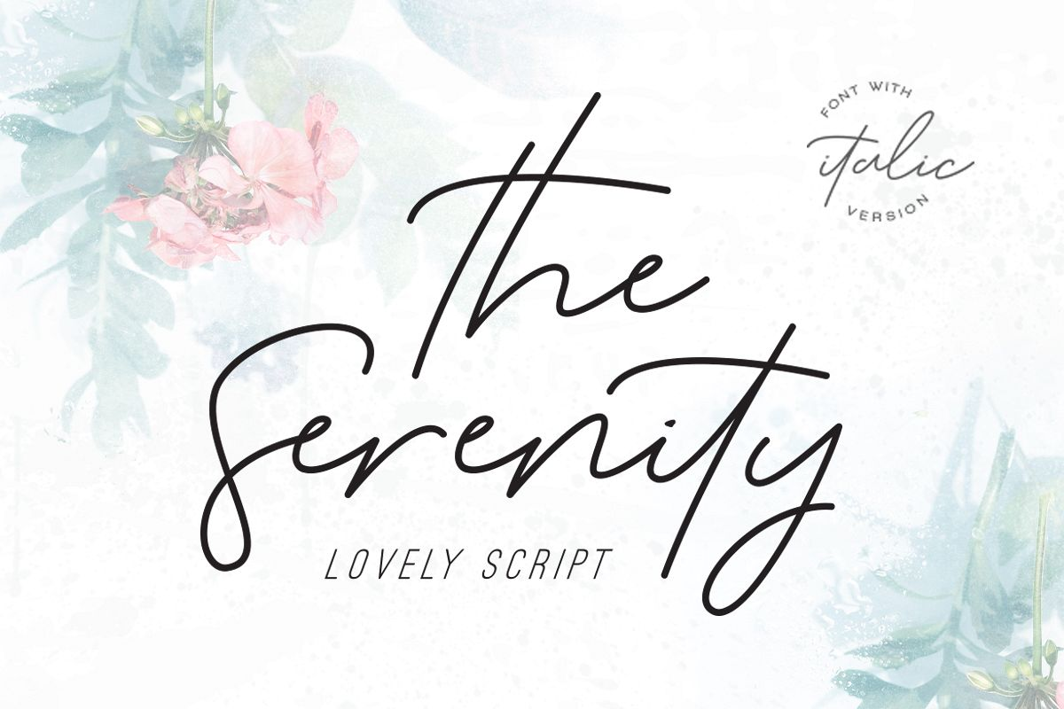 Serenity - Lovely Script example image 1
