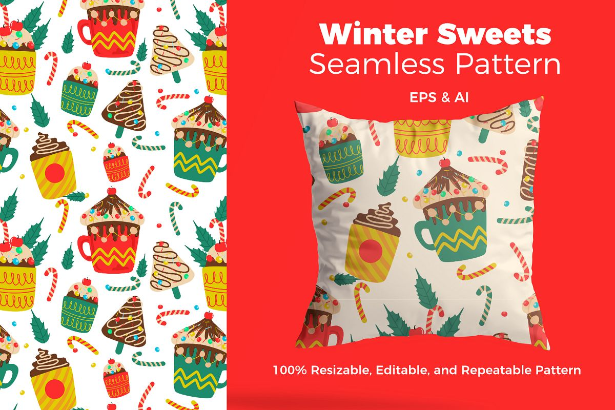 Christmas Sweets.Christmas Sweets Pattern