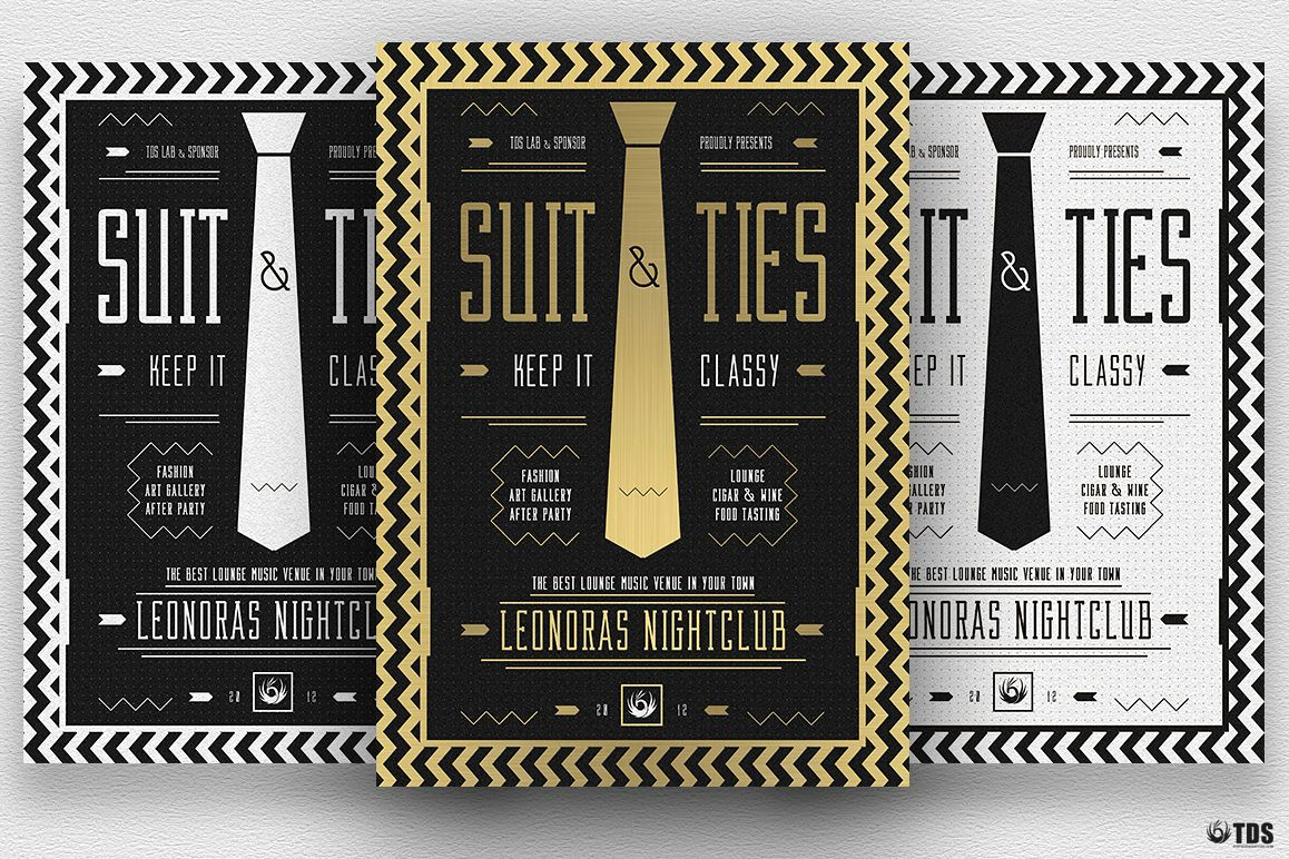 Suit and Tie Flyer Template V3 example image 1