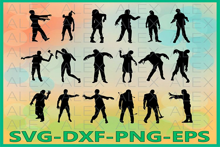 Zombies Svg, Zombie png, Zombie Clipart example image 1