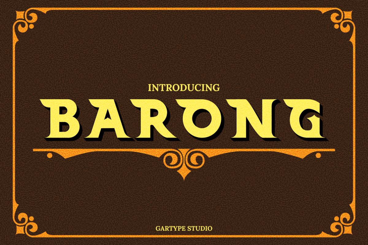 Barong Font and Bonus example image 1