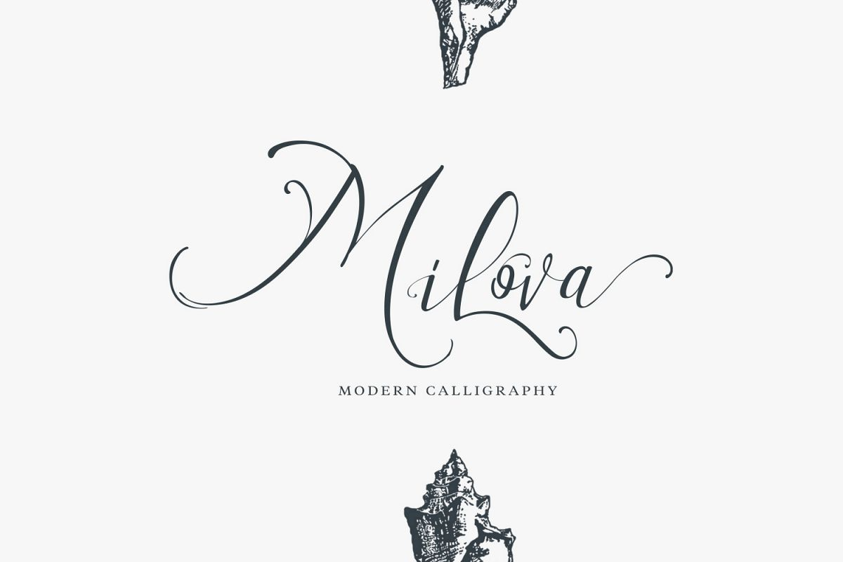 Milova | Modern Calligraphy example image 1