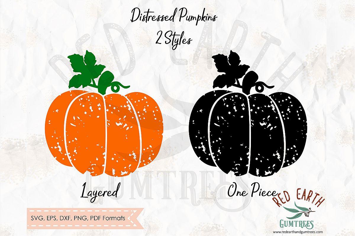 Distressed pumpkins, grunge pumpkins ,autumn SVG,DXF,PNG,EPS example image 1