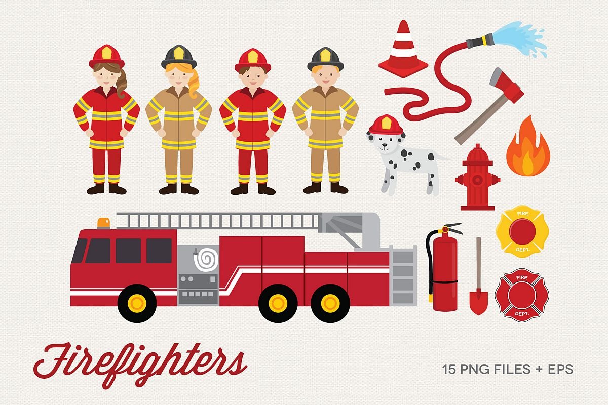 Firefighters Clipart example image 1