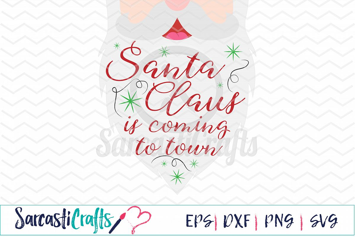 photo regarding Santa Claus Patterns Printable called Santa Claus is Coming toward City - Electronic Printable - Cuttable Document - Electronic Down load - SVG EPS PNG DXF
