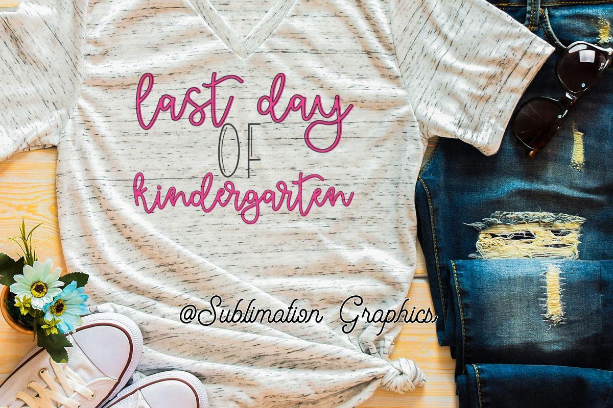 Last Day of Kindergarten PNG example image 1