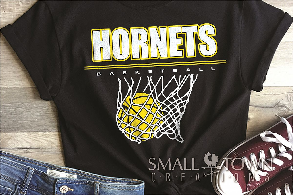 Hornet Basketball, Sport ball, team logo, PRINT, CUT, DESIGN example image 1