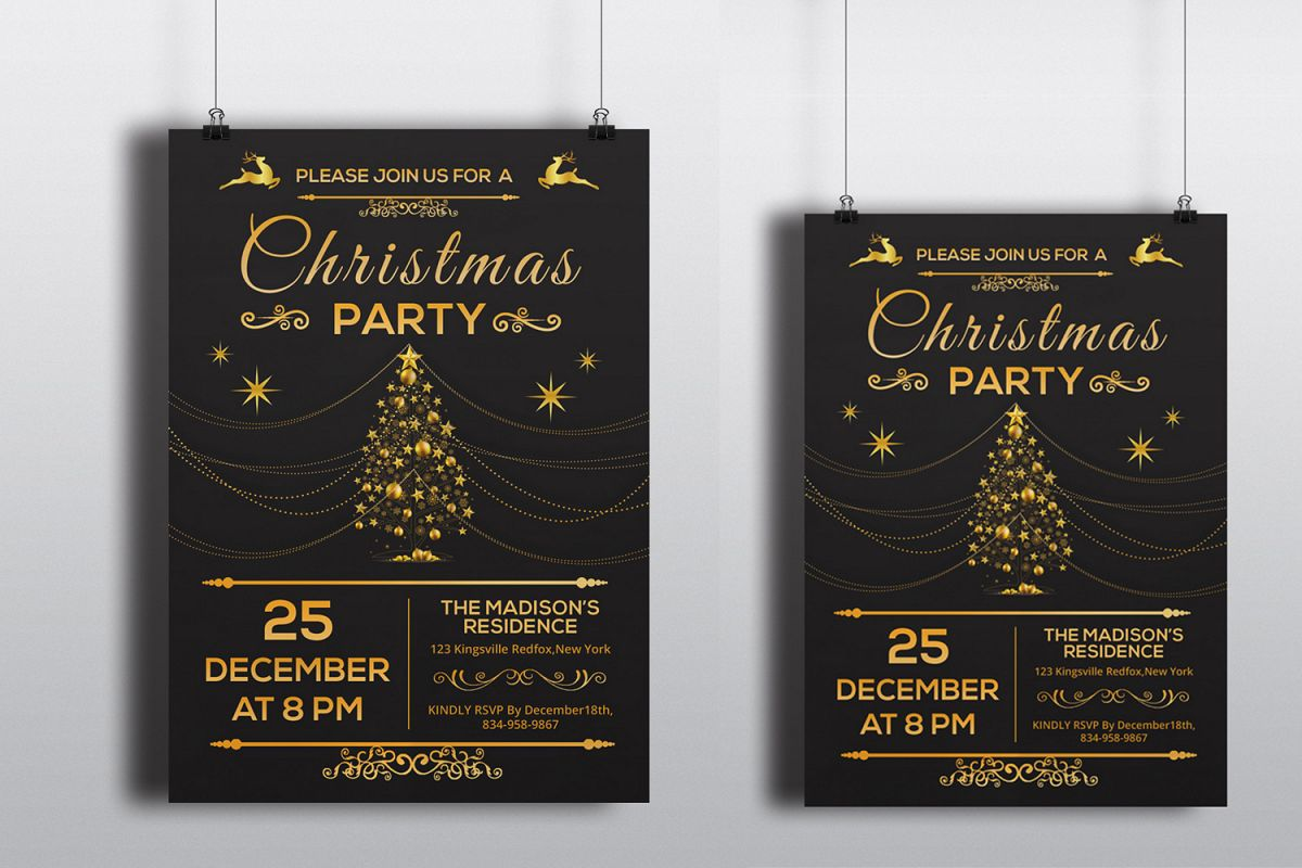 Christmas Party Invitation Flyer example image 1