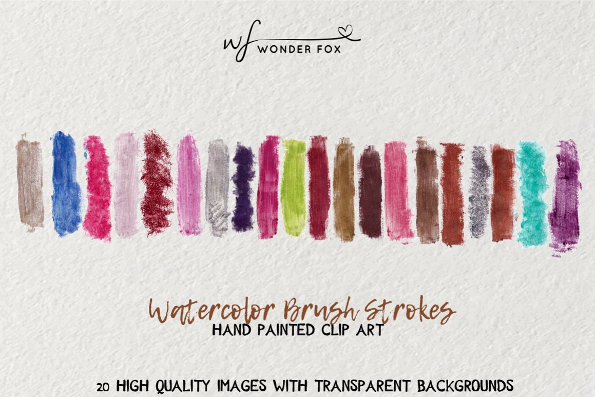 Glamour Watercolor brush strokes example image 1