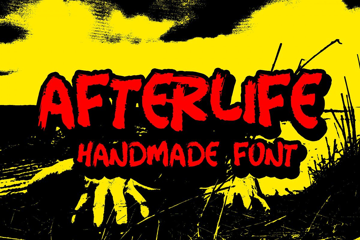 Afterlife Handmade Font example image 1