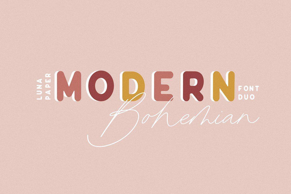 Modern Bohemian Font Duo example image 1
