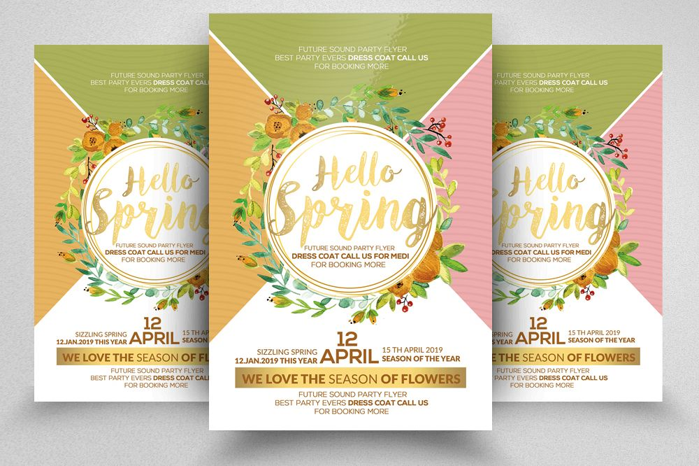 Hello Spring Arrival Flyer Template example image 1